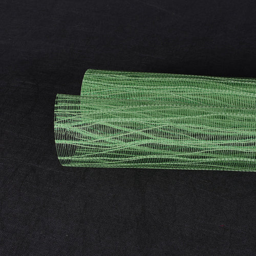 21 Inch x 6 Yards Emerald Metallic Twine Mesh Wrap