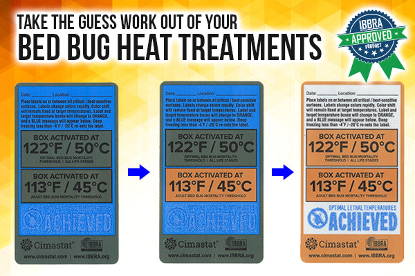 Bed Bug Heat Verification Labels