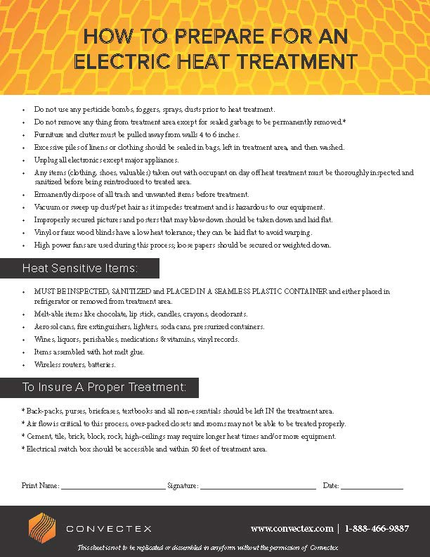 Apartment Bed Bug Heat Treatment Prep Checklist Convectex Bed Bug