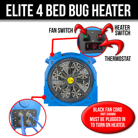 Elite 4 Bed Bug Heater Convectex Bed Bug Heat Equipment