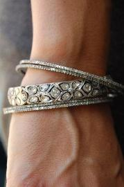 Flower Diamond Bangle - SOLD OUT! Available to custom order