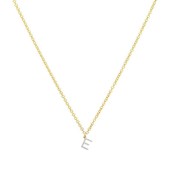 The Ella - Yellow Gold Diamond Initial Necklace