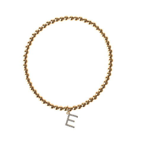 Diamond and Gold Initial Bracelet