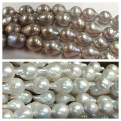Baroque Pearl Necklace and Diamond Clasp