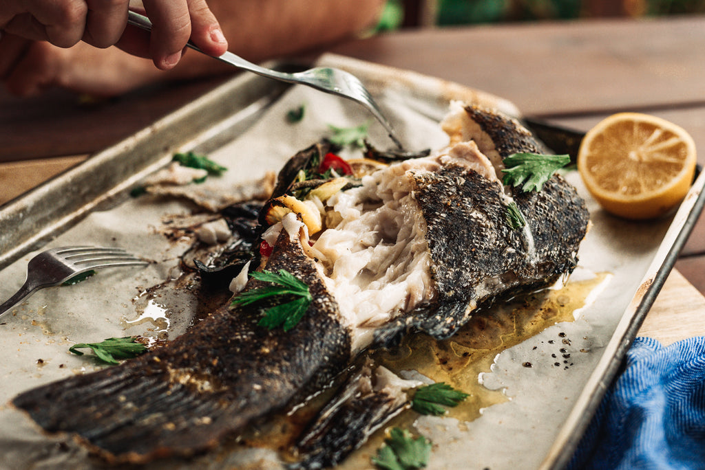 Coral Trout Whole baked