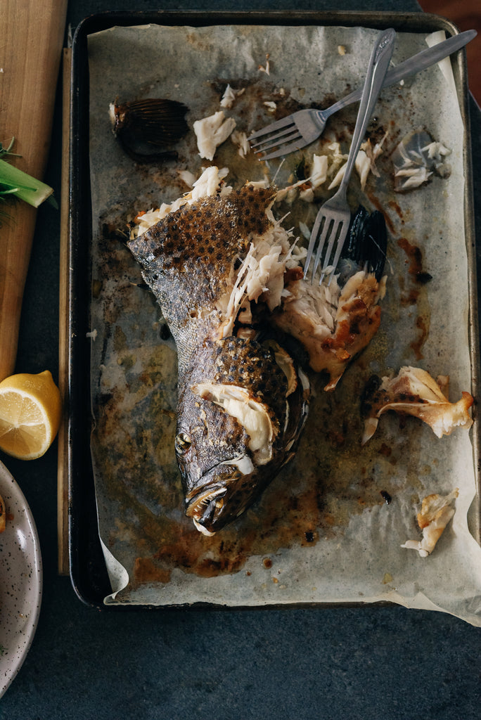 Passionfruit trout baked