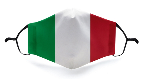 Italy Flag Mask - Viso Designs