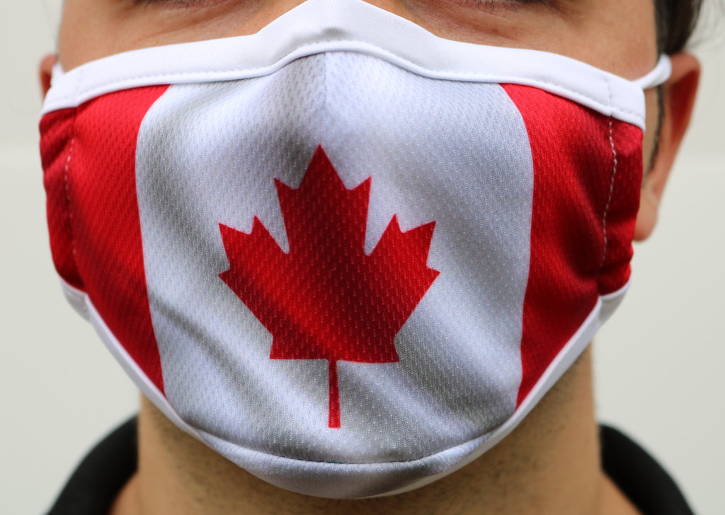Canada Flag Mask with Nose Wire - Made in Canada - Viso Designs