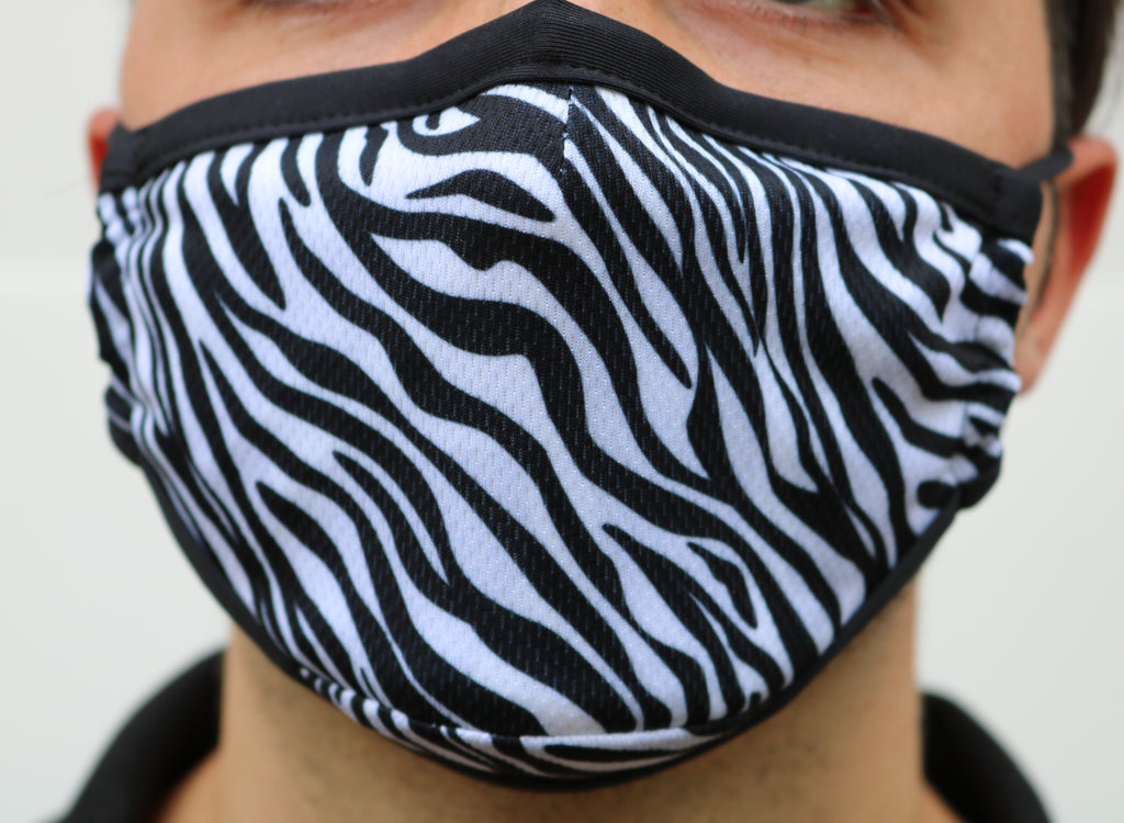 Zebra Mask with Nose Wire - Made in Canada - Viso Designs