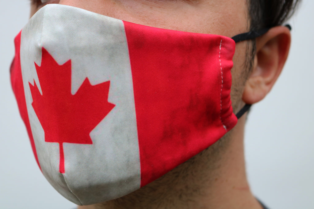 Distressed Canada Flag Face Mask - Viso Designs