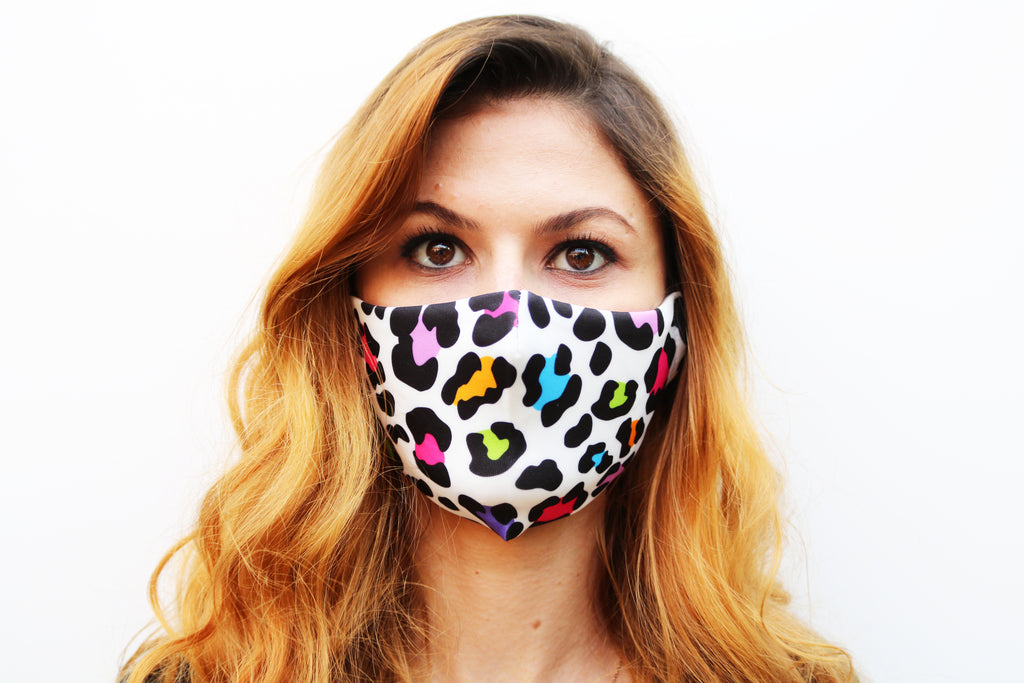 3 Mask Bundle - Tie Dye, Coloured Leopard, Floral - Viso Designs