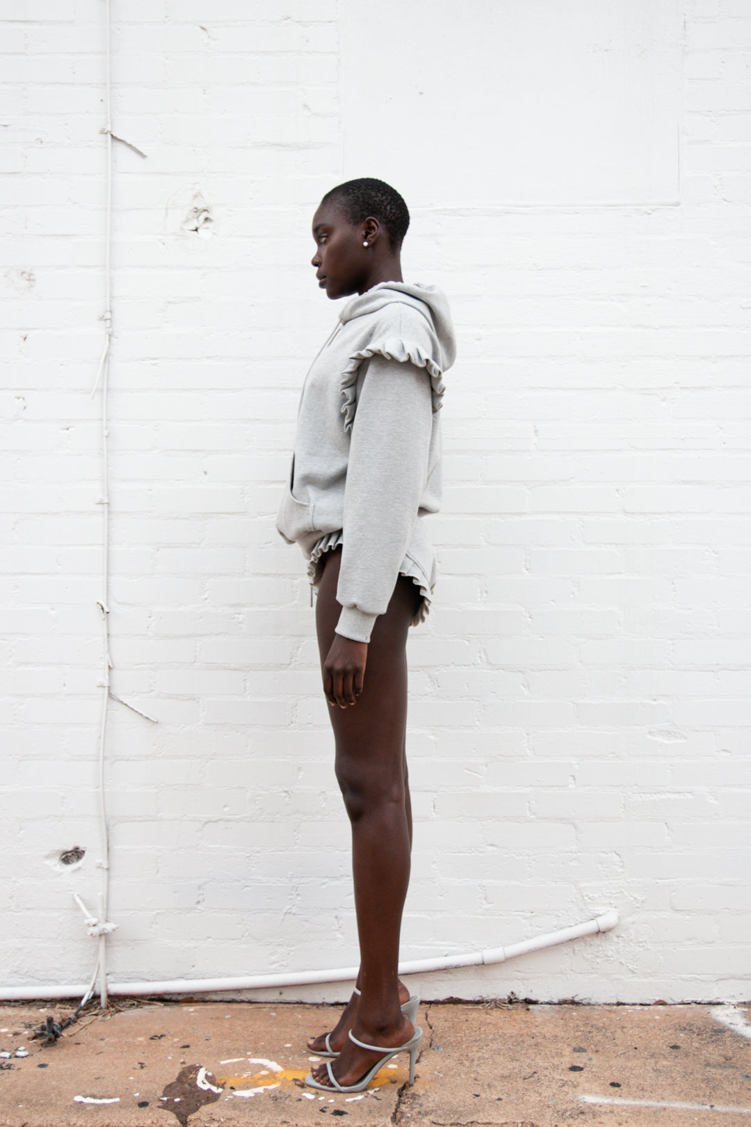 Cheeky Sweat-short | Heather Grey
