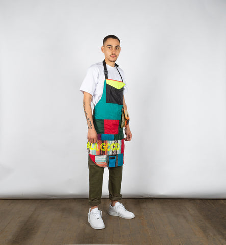 patchwork apron, packable