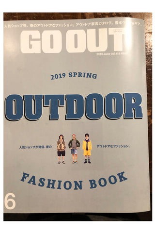 "cover of ""go out"" magazine, the outdoor fashion book edition"