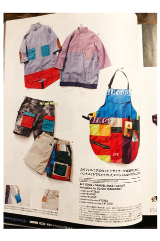"inside page of ""go out"" magazine, featured b:SR capsule collection"