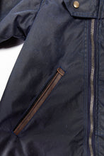 Load image into Gallery viewer, 2020 moto jacket- navy wax