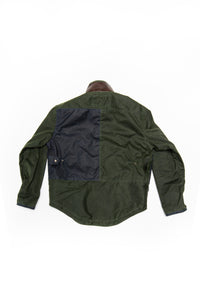 2020 moto jacket- navy/green wax