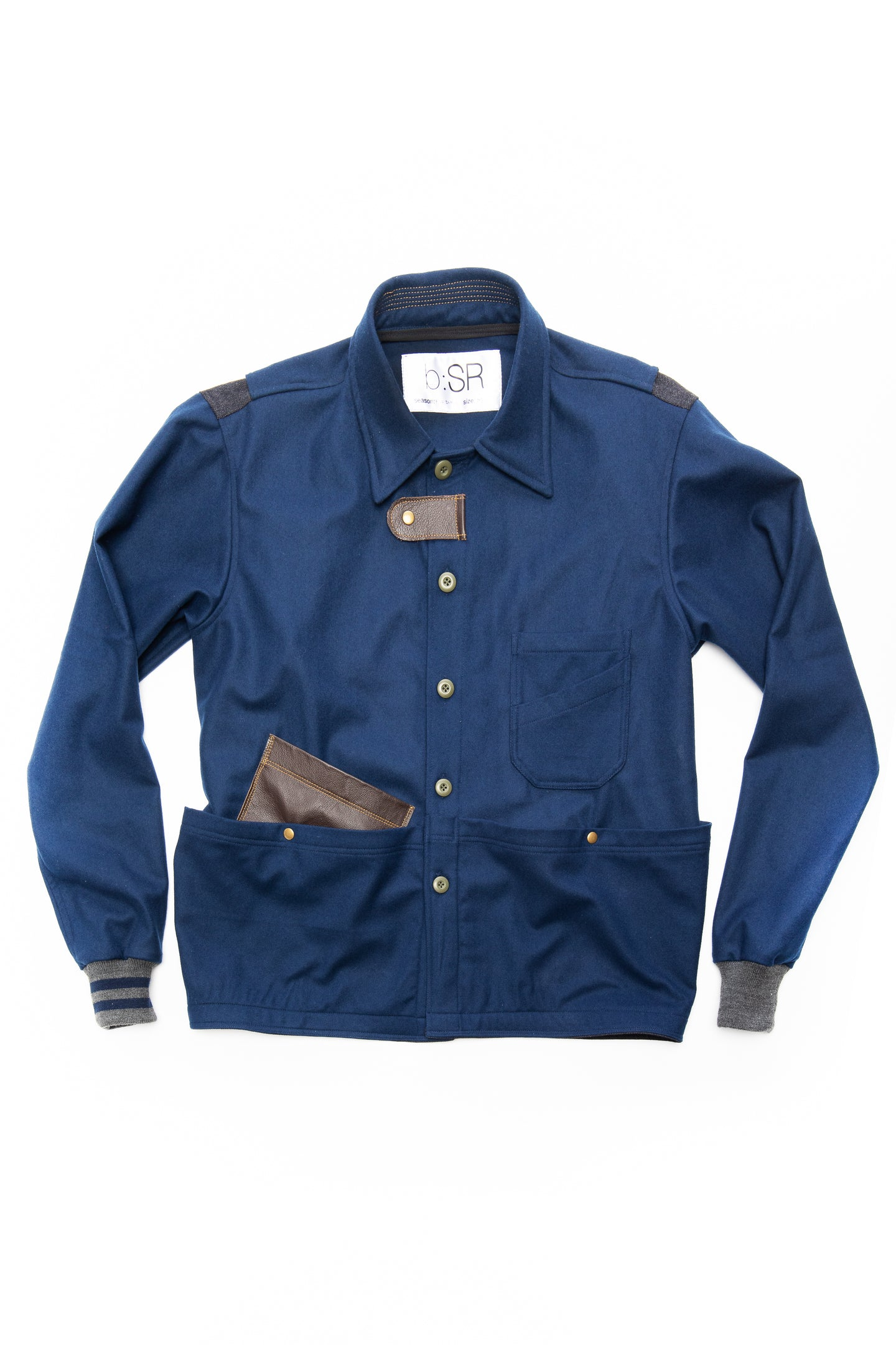 2020 workcoat- blue wool