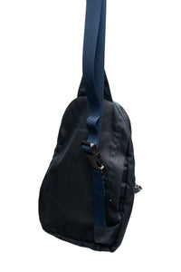 sling bag- navy blue wax