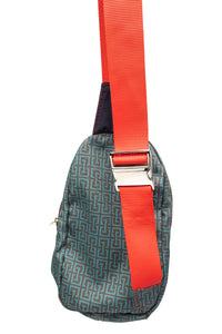 sling bag- weave print canvas
