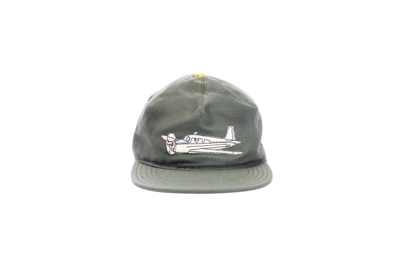 plain patch hat-one off