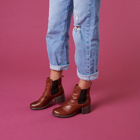 Lifestyle Image of Ginger Chelsea Boot