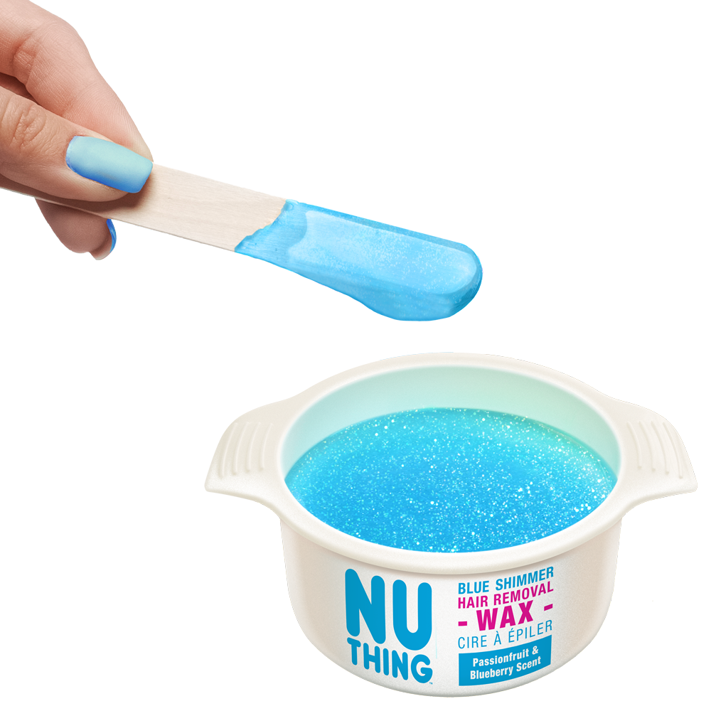 Blue Shimmer Hair Removal Wax 100g