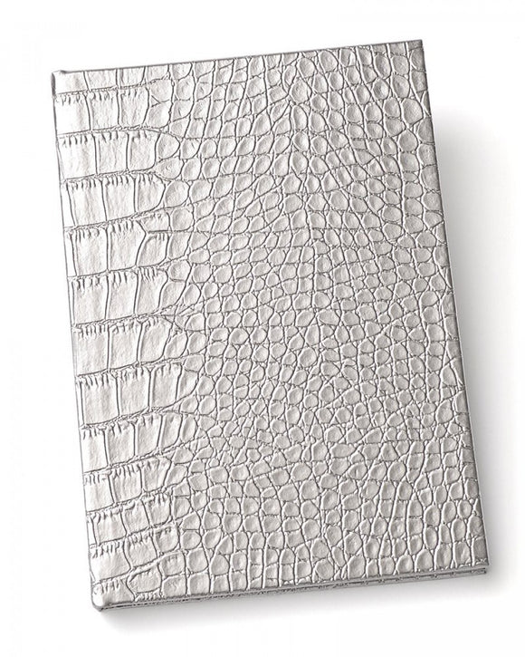 Faux Animal Skin Journal - Silver