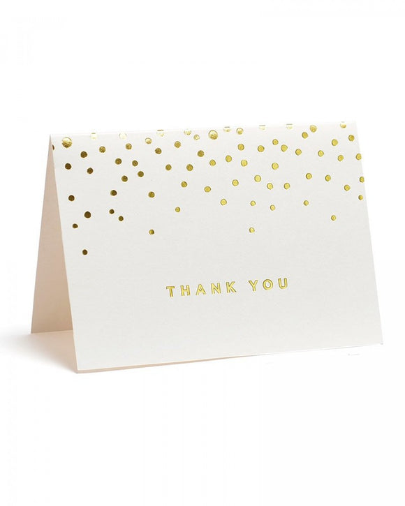 Value Pack Thank You Cards - 50 count - Gold Foil Dots