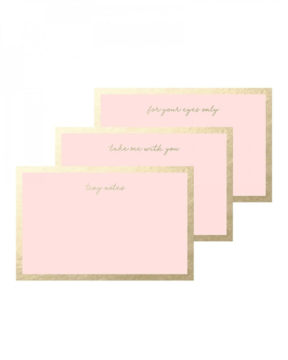 Quips & Queries Notecards (pink with gold foil) - 50 pack
