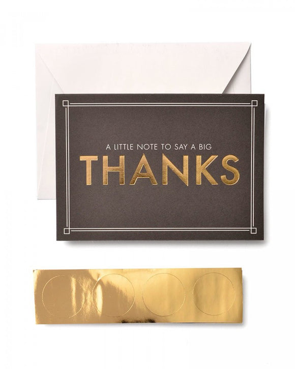 Little Note/Big Thanks - Thank You Cards & Seals - 12ct