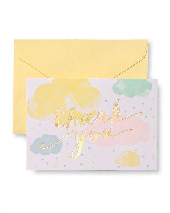 Value Pack Thank You Cards - 50 count - Pastel Heart Shaped Rain Drops