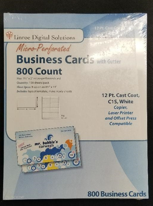 DIY Print your own business cards (glossy) - 800 count
