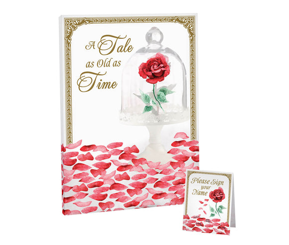 Fairy Tale Rose Petal Signing Canvas