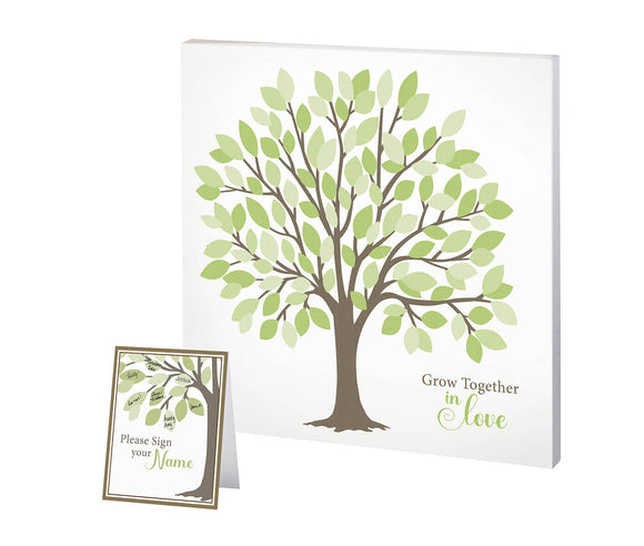 Wedding Tree Guest Book Alternative Signing Tree with Green Leaves