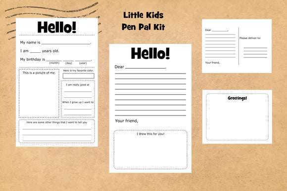 Little Kids Pen Pal Kit