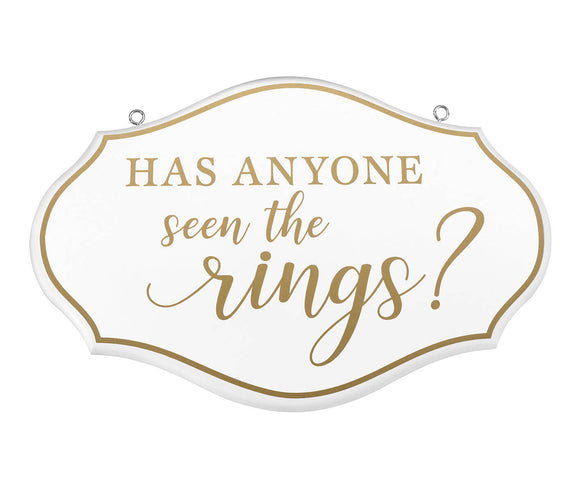 Ring Bearer Pillow Alternative Where are the Rings Sign