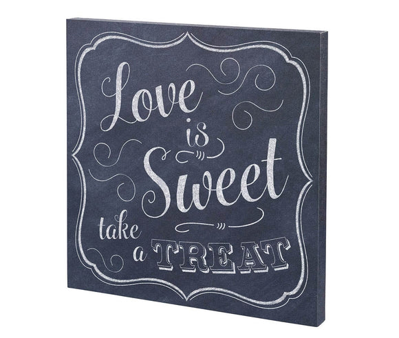 Black & White Love is Sweet Wedding Sign