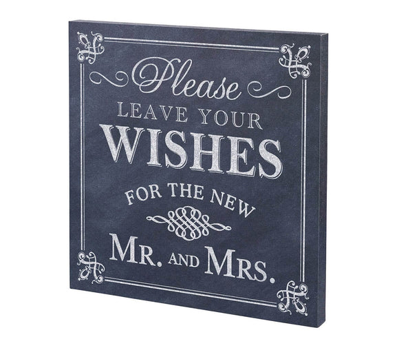 Black & White Wedding Wishes Wedding Sign