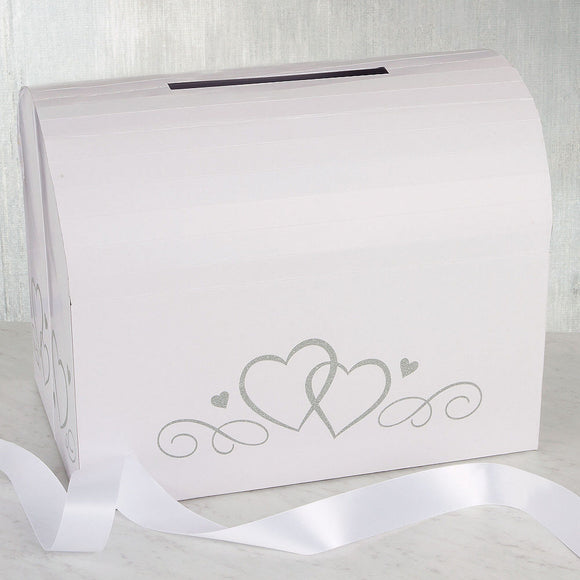 White Wedding Card Holder Box