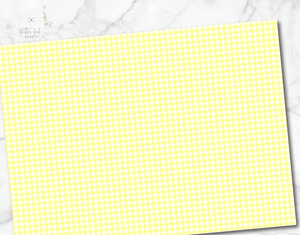 Gingham Small Yellow