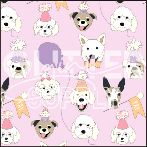 Heycute Birthday Pups Purple
