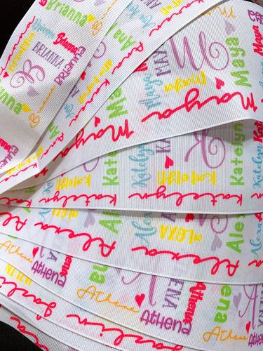 Custom printed ribbon Minimum QTY 10 yards