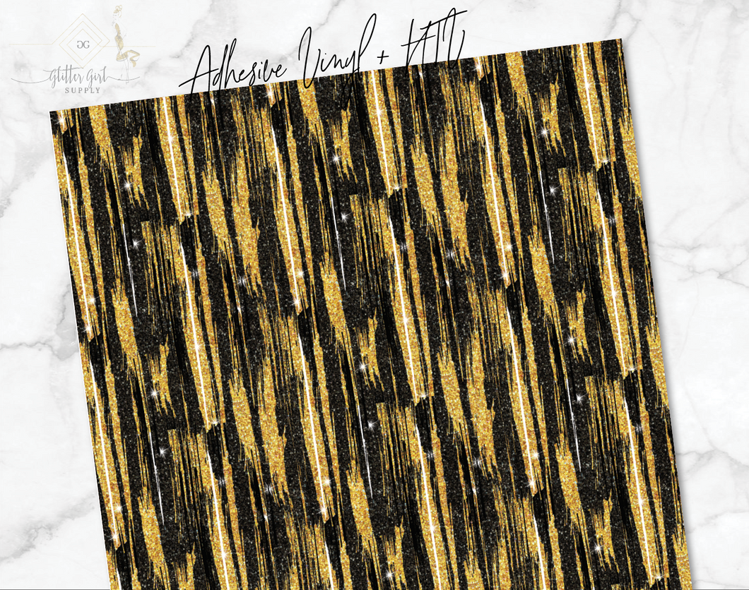 New Year Gold Strokes Vinyl
