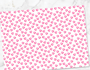 Valentines sheets - small hearts
