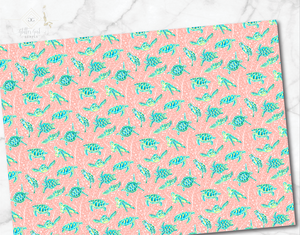 Preppy florals Turtles 12