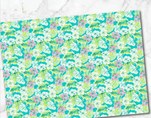 Preppy florals Green 09