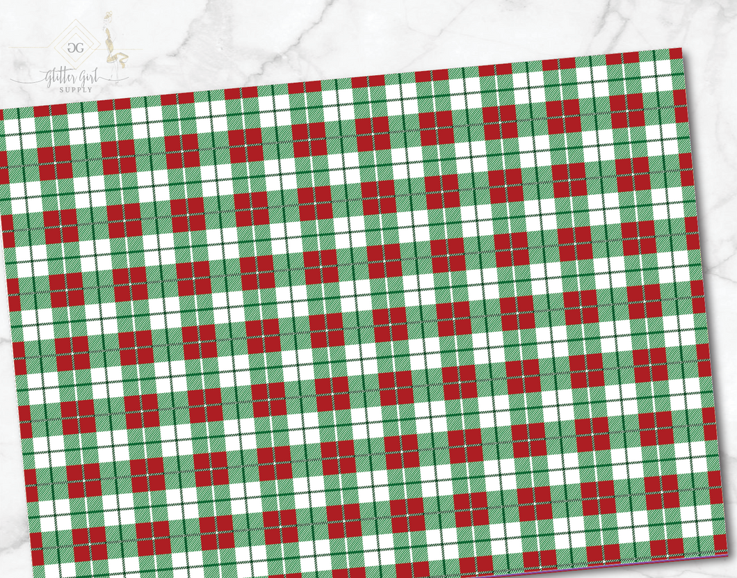White Green Red Plaid