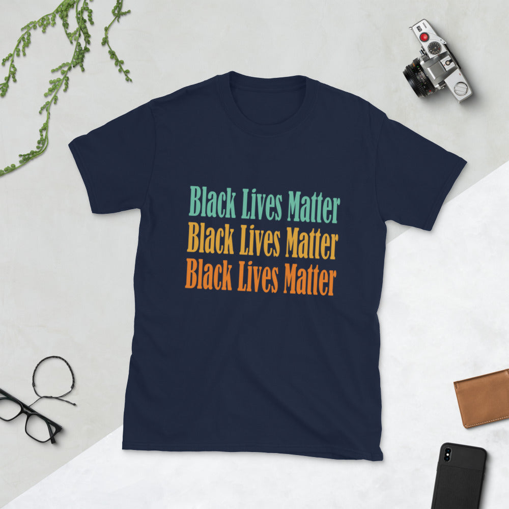 Black Lives Matter, No Justice No Peace, I Cant Breathe, Short-Sleeve Unisex T-Shirt
