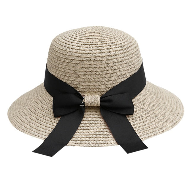 Sun Hat Woman Summer Straw Hat Big Wide Brim Beach Hat Foldable Sun Block UV Protection Women's Summer Hat #D8